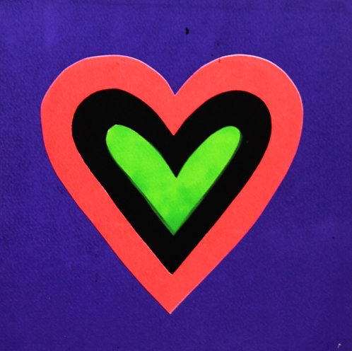 Purple Heart Screenprint