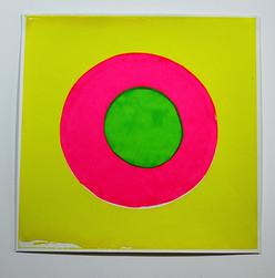 Self centric fluro yellow, pink, green