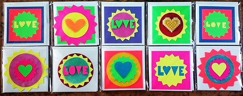 LOVE card selection (four)