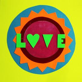 Love card yellow