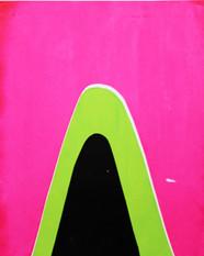 Mountain Screenprint Pink