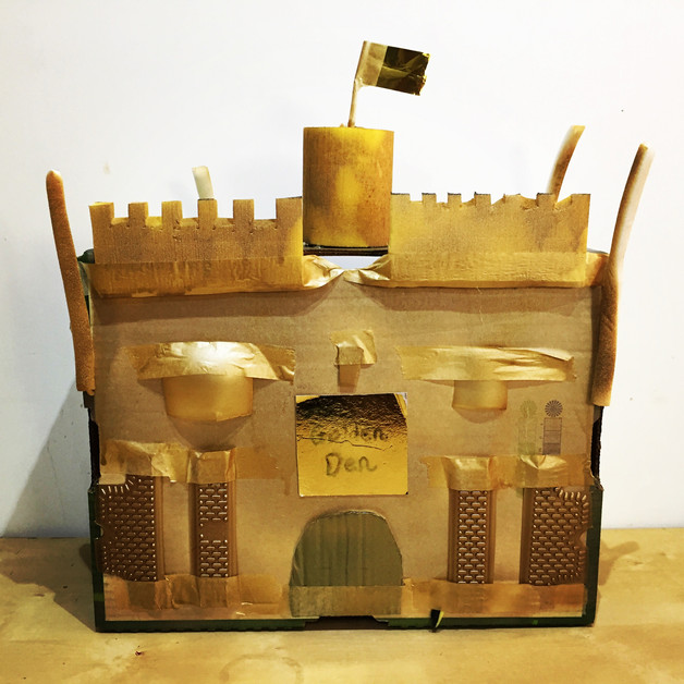 Golden Den model by the young designers