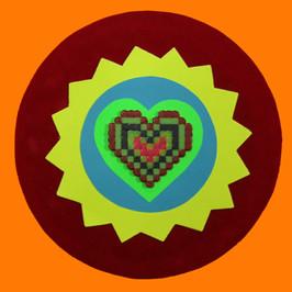 Orange hama heart