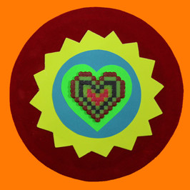 Orange hama heart