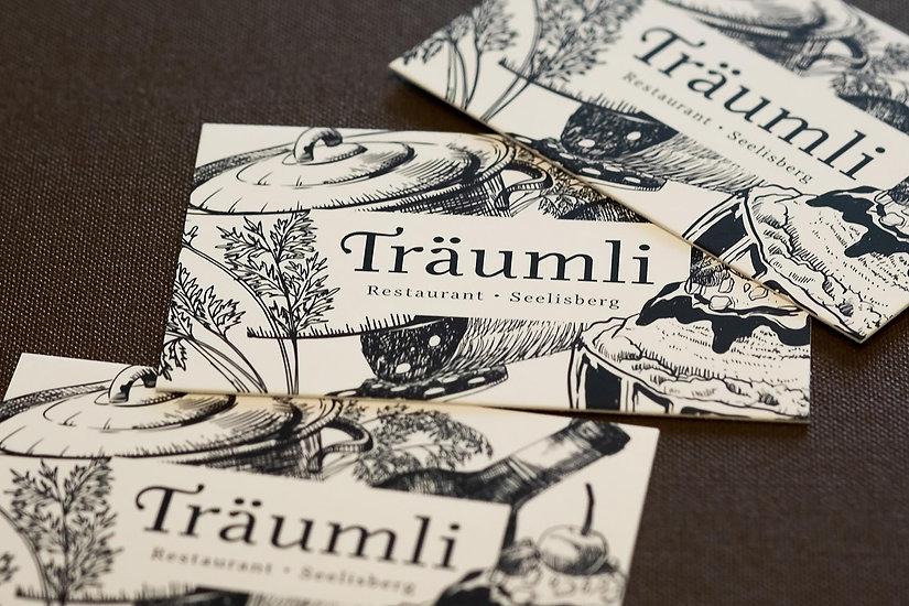Visitenkarten vom Restaurant Träumli in Seelisberg