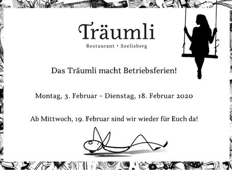 Betriebsferien im Februar