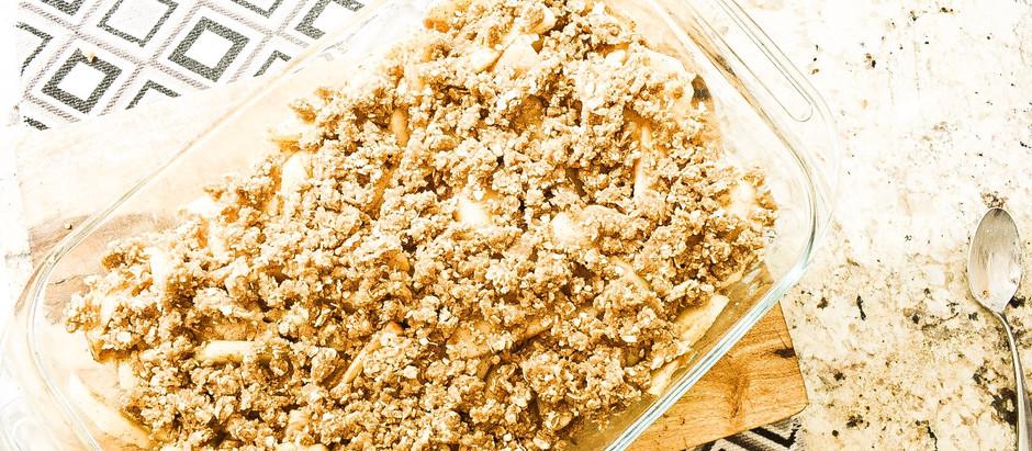 Crustless Vegan/GF Spiced Apple Crumble