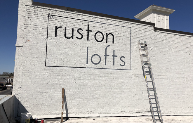 Ruston Lofts large outdoor mural