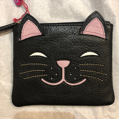 Cat purse Leather
