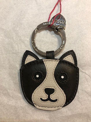 Bailey the Dog Keyring Leather