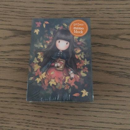 Memo Block Autumn Leaves