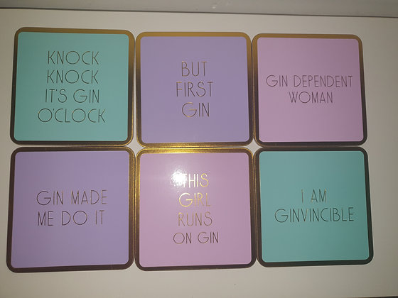 Gin-vincible Coasters (set of 6)