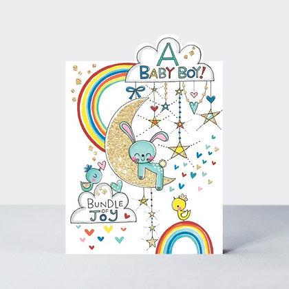 Baby Boy Moon Card