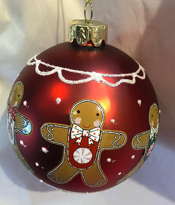 Red Gingerbread Bauble