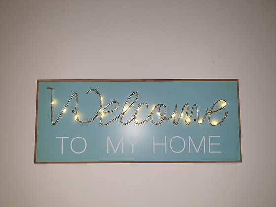 Light up Welcome Sign