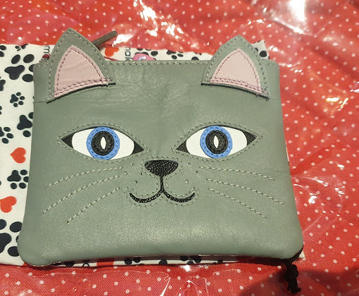 Lola cat purse (leather)