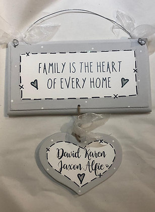 Family is the Heart Dangly