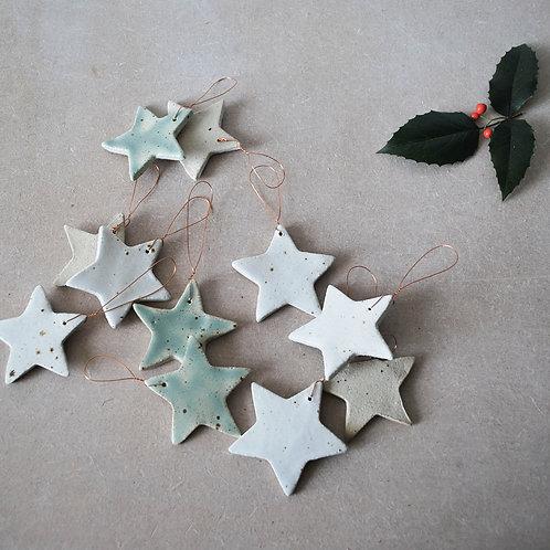 Set of 3 Star Christmas Decorations
