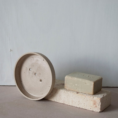 Soap Dish / Taupe + Raw