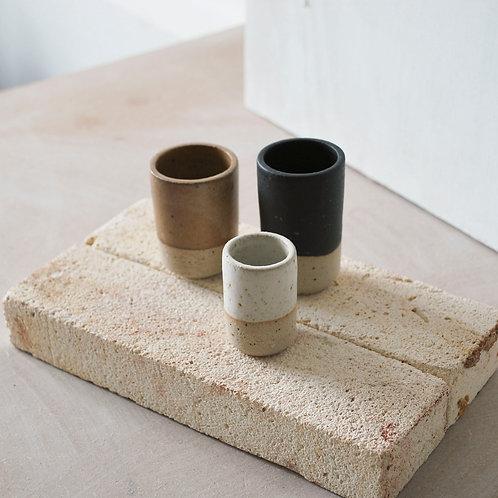 Set of 3 Bud Vases / Charcoal, Kol + Chalk Dip