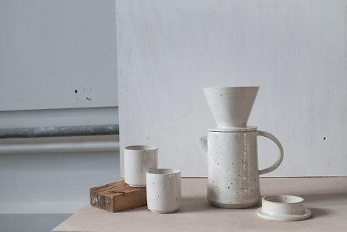 Tall Lidded Teapot / Satin White