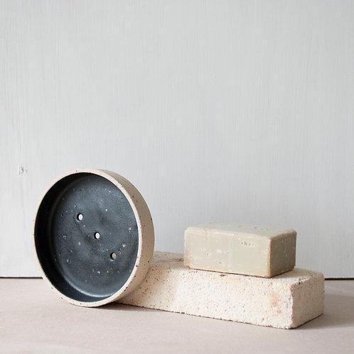 Soap Dish / Charcoal + Raw