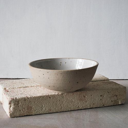 Snack Bowl / Satin White + Raw