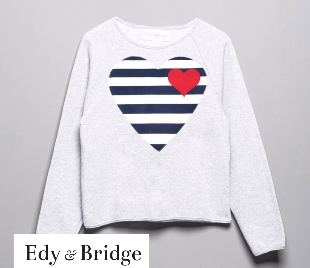 Edy & Bridge nautical love heart jumper