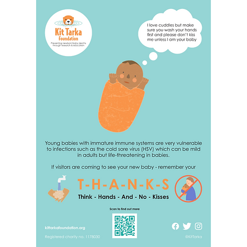 T-H-A-N-K-S campaign poster - perinatal settings
