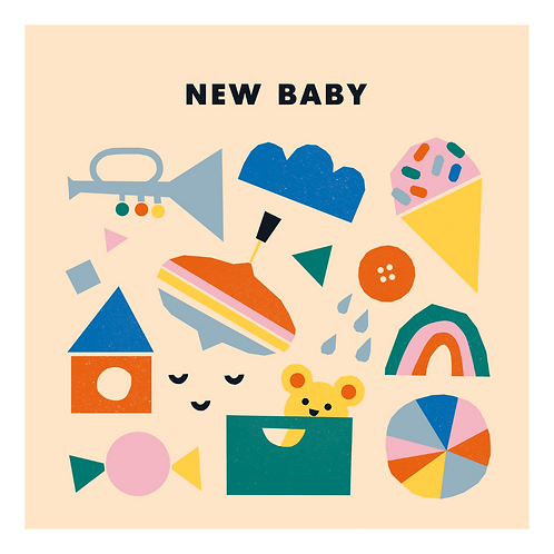 New Baby card by Ekaterina Trukhan