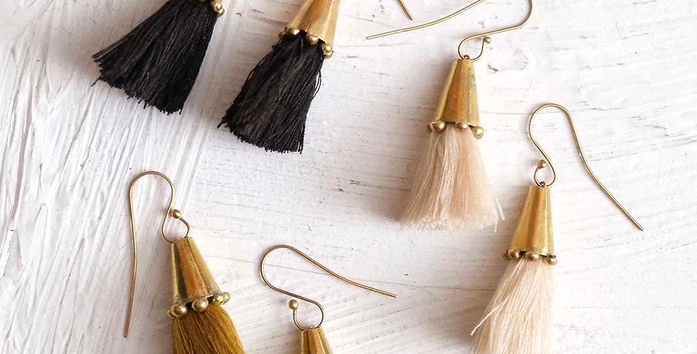Handmade Hebba Cone Tassel Earrings