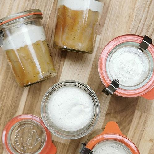 Baba aux agrumes, crème légère à la vanille.