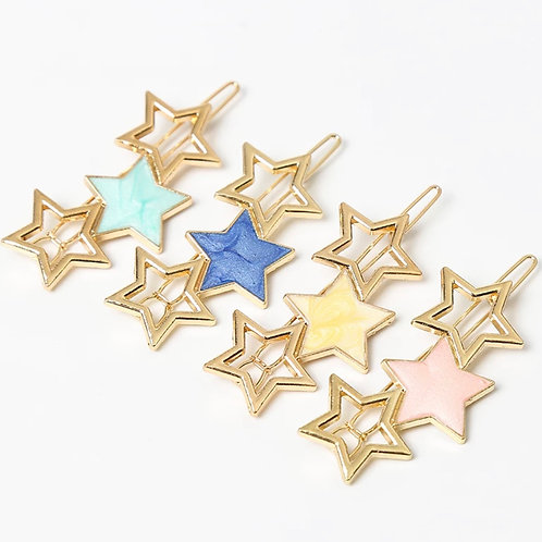Star Hair Clips (5 Colors)