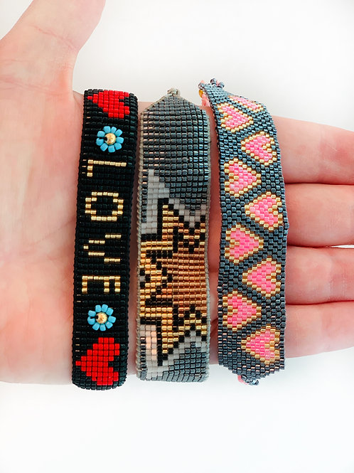 Graphic Beaded Cuff