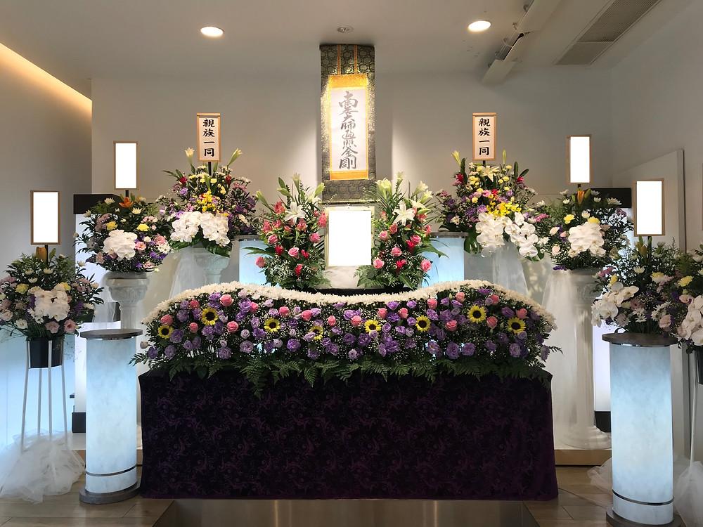 家族葬,尼崎 葬儀,祭壇,あんしん館,