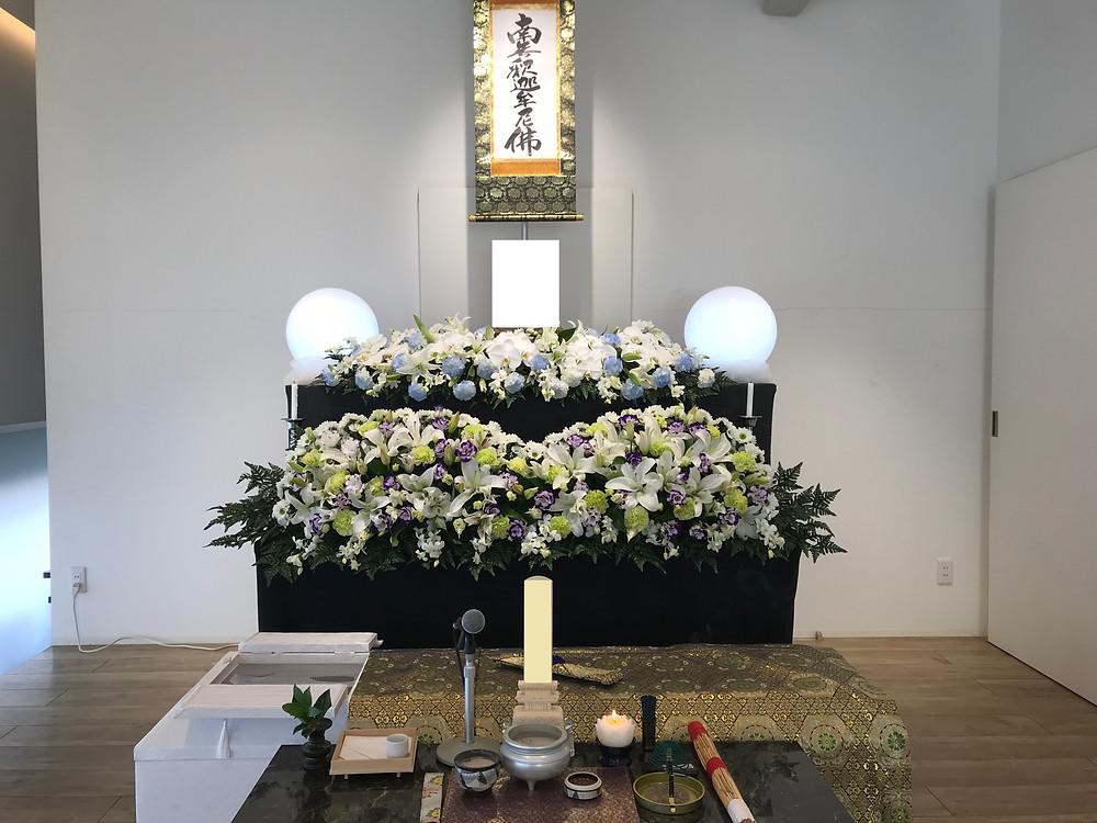 【葬儀事例】尼崎市での一日葬,弥生ヶ丘斎場,大阪市,葬式,尼崎 葬儀