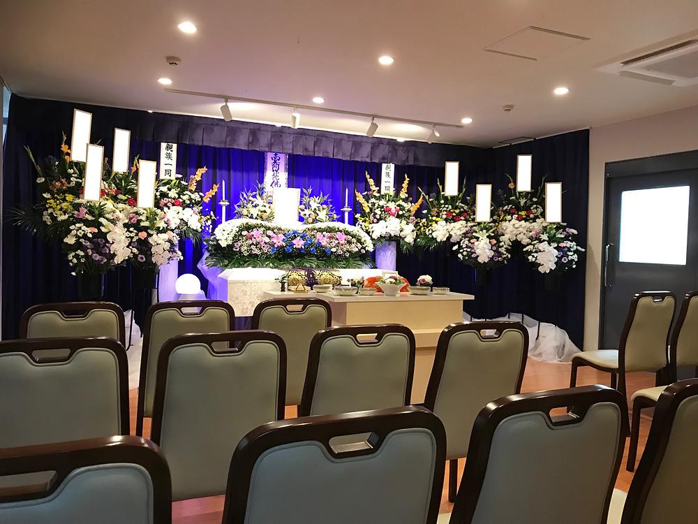 尼崎市役所前、七松町、あんしん館、家族葬