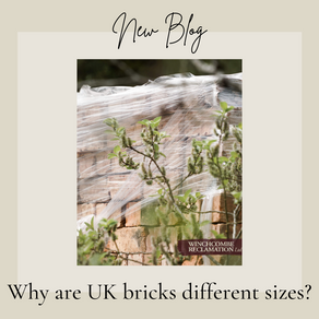 Why are Old Clay bricks different sizes in the UK?