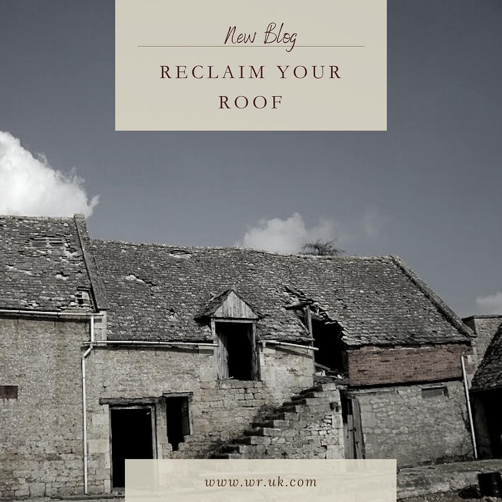 Image of a badly damaged roof
