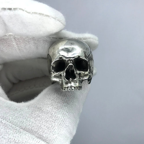 Skull Ring Sterling Silver Polished Skull Ring UK Hallmarked and Made To Measure