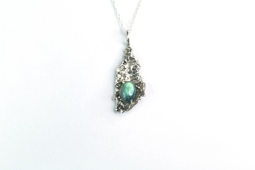 Water droplet sterling silver and labradorite pendant necklace water droplet sterling silver and labradorite pendant necklace rookfire jewellery uniquely inpsired fashion jewellery mozeypictures Choice Image