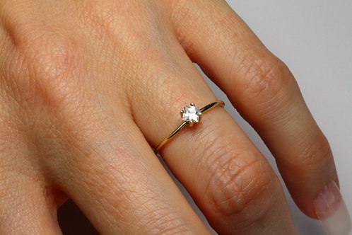 Princess Cut Diamond Engagement Ring 18K Gold  with Princess Cut Diamond Setting