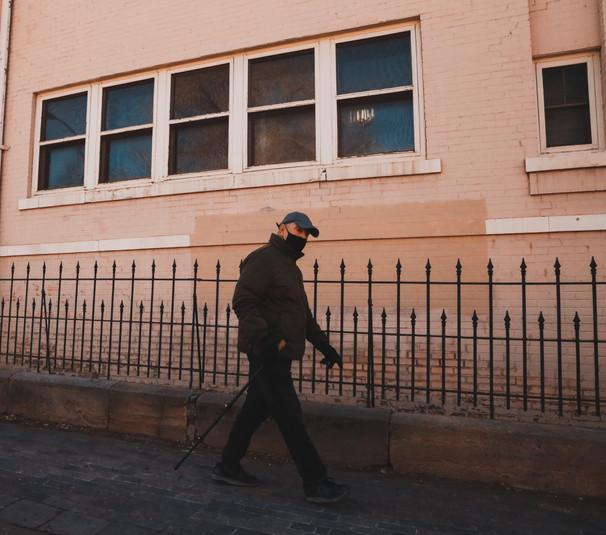 Man Walking in Santa Fe.JPG