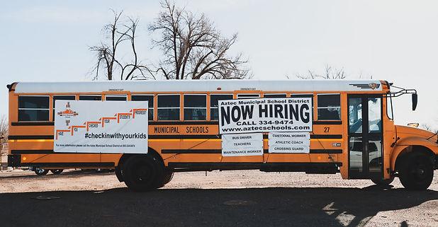 Aztec schools, schoolbus, new mexico, community