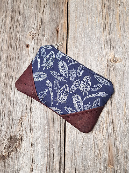 Essential Oil Bag - Navy Feathers