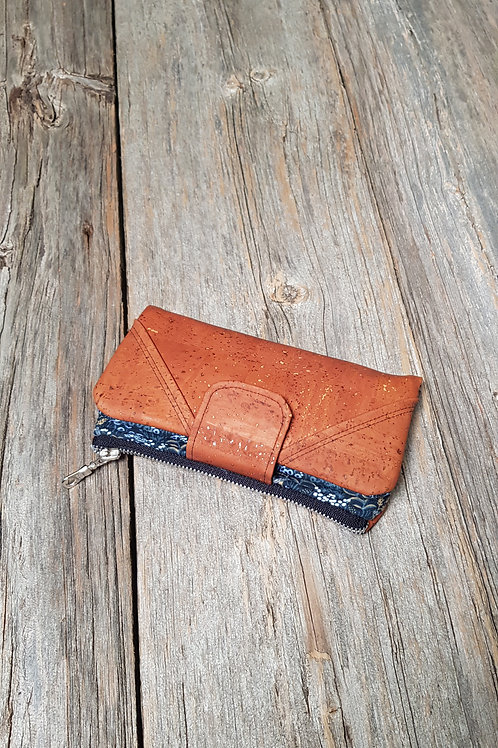 Wallet - Navy Tapestry