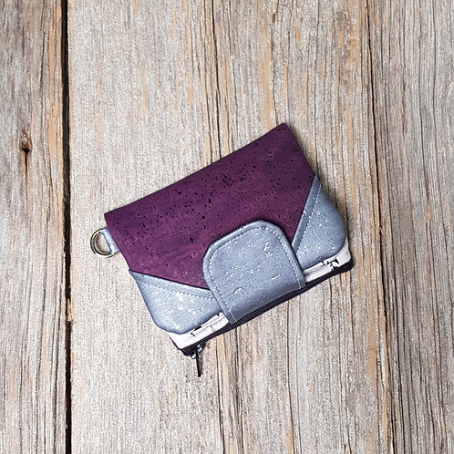 Mini Wallet - Cheshire Feathers