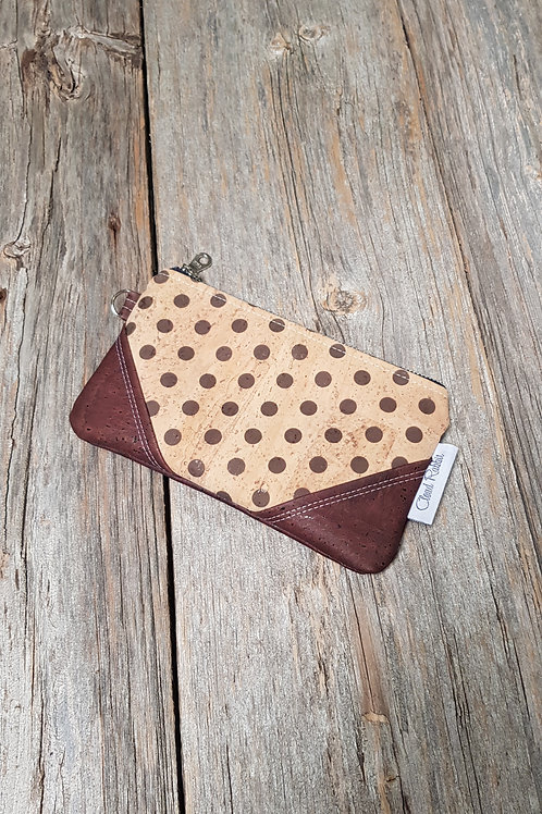 Rex Clutch - Natural with Brown Dots