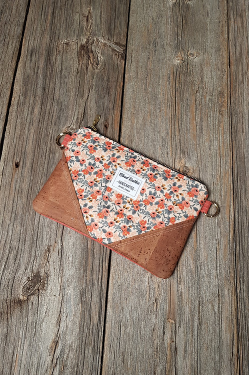 Sable Clutch - Peach Rosa x Light Brown