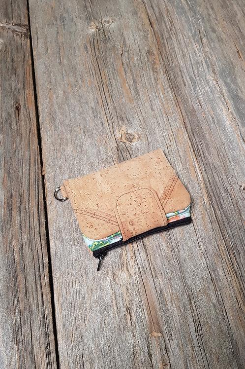 Mini Wallet - Teal Peony